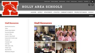 Staff Resources - District Home - Holly Area Schools