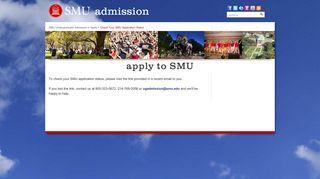 Check Your SMU Application Status - Admissions - SMU