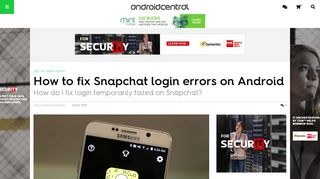 How to fix Snapchat login errors on Android | Android Central