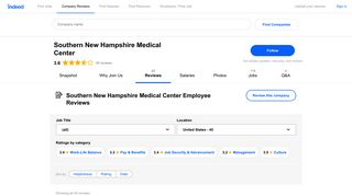 Working at Southern New Hampshire Medical Center: Employee ...