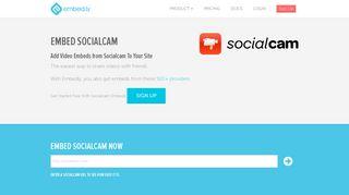 Socialcam Embed Provider | Embedly