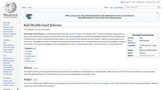 Soil Health Card Scheme - Wikipedia