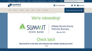 Welcome to Summit State Bank