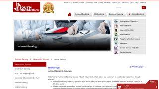 Internet Banking - South Indian Bank