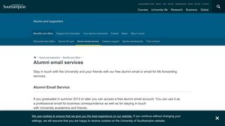 Alumni email services | University of Southampton