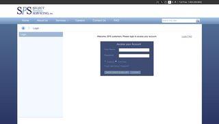 Login - Select Portfolio Servicing