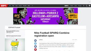 Nike Football SPARQ Combine registration open - ESPNHS Football ...