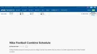 Nike Football Combine Schedule - 247Sports