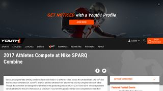2017 Athletes Compete at Nike SPARQ Combine | Youth1