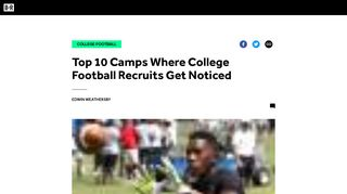 Top 10 Camps Where College Football Recruits Get Noticed ...