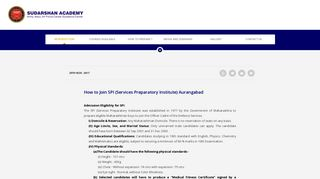 How to join SPI (Service Preparatory Institute), Aurangabad