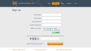 Sign Up - SpiderScribe