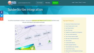 Integration with SpiderScribe   5pm