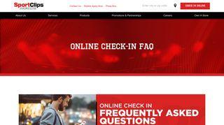 Check-in-FAQ   sportclips.com