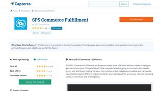 SPS Commerce Fulfillment Reviews and Pricing - 2019 - Capterra