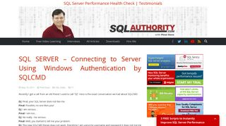 Connecting to Server Using Windows Authentication by SQLCMD