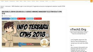 BKN disables Login in sscn.bkn.go.id, 5 agencies announce ... - Navva