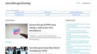 sscn.bkn.go.id 2019 – Situs Pendaftaran CPNS 2019
