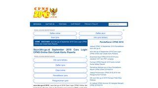 sscn.bkn.go.id September 2018 Cara Login CPNS Online dan Cetak ...