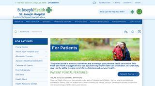 Patient Portal   St. Joseph Hospital of Orange