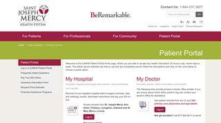 Patient Portal - Saint Joseph Mercy Health System