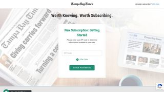 New Subscription: Getting Started - Tampa Bay Times