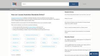How can I access Australian Standards Online?