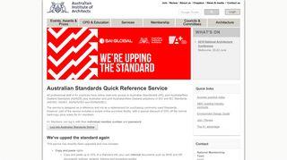 Australian Standards - Australian Institute of Architects