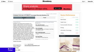 STANLEY Convergent Security Solutions, Inc.: Private Company ...