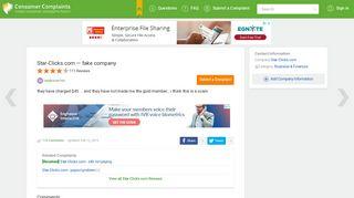 Star-Clicks.com — fake company - Consumer Complaints