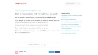 How to make money with my Publisher account? - Star-Clicks.com ...