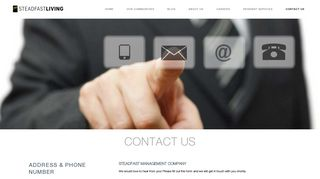 Request Information - Contact Us | Steadfast Management
