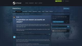 A question on nexon accounts on steam? :: MapleStory General ...