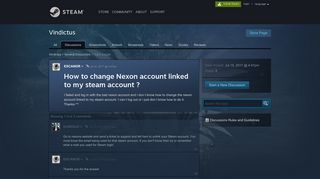 How to change Nexon account linked to my steam account ...