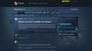 Nexon account useable via steam? :: MapleStory 2 General Discussions