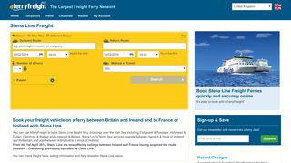 Stena Line Freight - Ferry Bookings with AFerryFreight