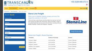 Stena Line Freight   Book Freight Ferries
