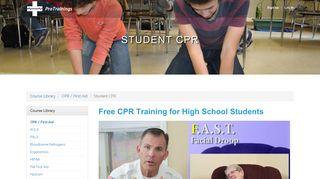 Student CPR Course Details   ProTrainings