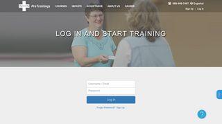 ProTrainings Login - Resume Your Training