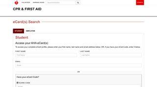 AHA eCards verification - American Heart Association