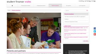 Parents and partners - Student Finance Wales