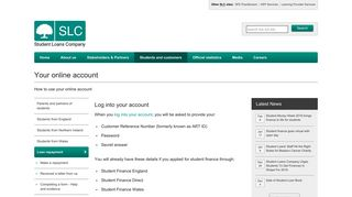Your online account - Student Loans Company