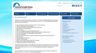 Summit Credit Union of NC – Home Banking 24