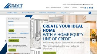 The Summit Federal Credit Union: Home