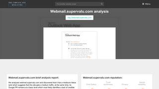 Web Mail Supervalu. Outlook Web App - FreeTemplateSpot