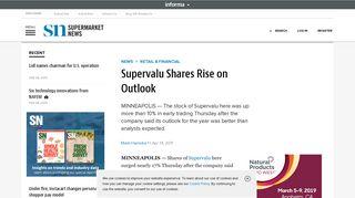Supervalu Shares Rise on Outlook | Supermarket News