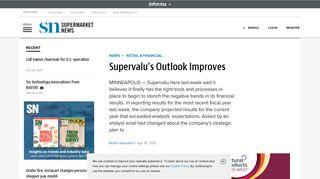 Supervalu's Outlook Improves | Supermarket News