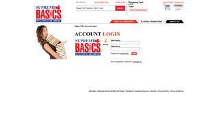 Account Login - Supreme Basics