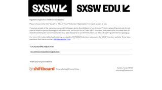 Welcome to Shiftboard: SXSW Event Scheduling Shiftboard ...