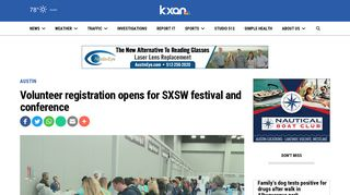 Volunteer registration opens for SXSW festival and conference